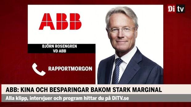 Björn Rosengren vd ABB: Därför är våra affärer är på väg mot rätt håll