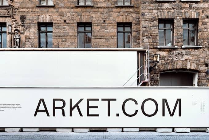 H&Ms egen reklambild för den tänkta Arketbutiken på Biblioteksgatan i Stockholm.