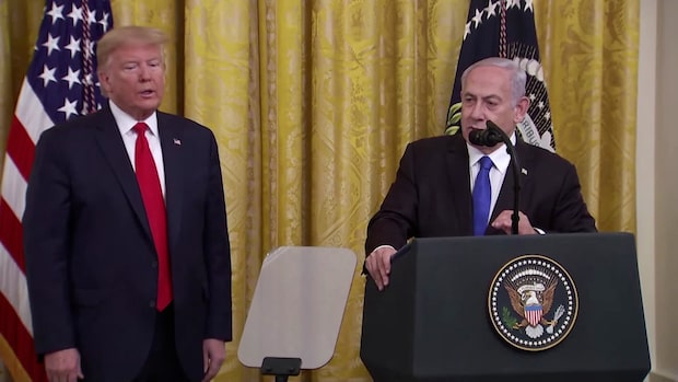"""Israels premiärminister om fredsplanen: """"En historisk dag"""""""