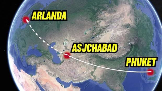Svensk dog på väg hem från Thailand
