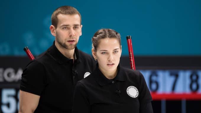 OAR:s mixeddubbellag i curling. Foto: JOEL MARKLUND / BILDBYRÅN