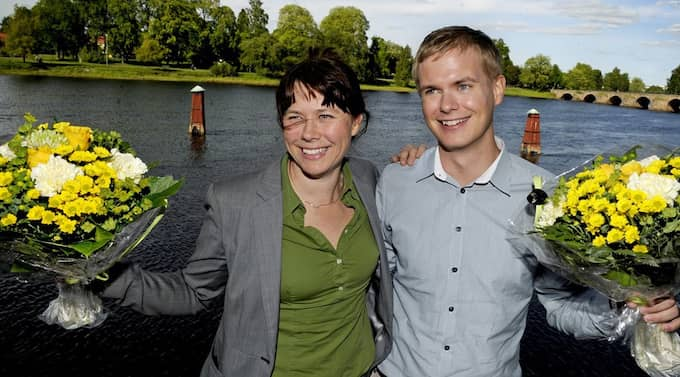 Nya språkrören för Miljöpartiet, Åsa Romson och Gustav Fridolin. Foto: Erik Mårtensson / Scanpix