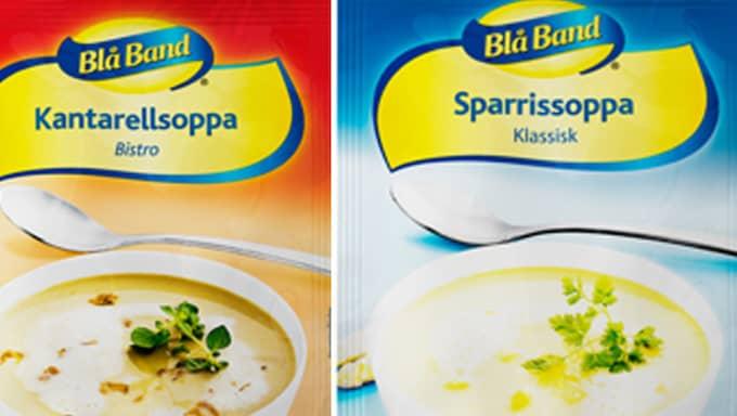Lika stora? Den ena förpackningen ger en fjärdedel mindre soppa.