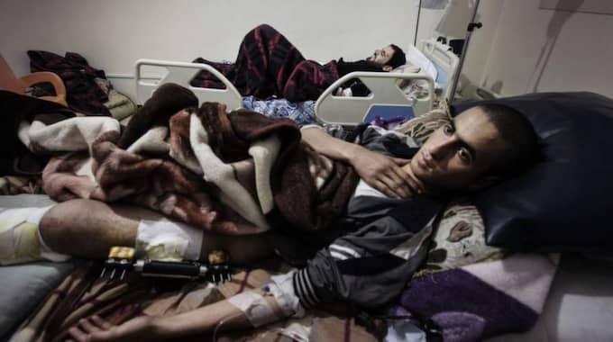 22-årige Mohamed vid Syriens gräns. Foto: Jonas Lemberg