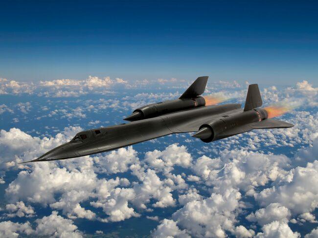 SR 71 – Blackbird är världens just nu snabbaste jetplan.