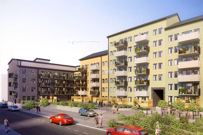 Den färdiginredda lägenheten ligger i stadsdelen Gränby i Uppsala, där Ikano bostad bygger totalt fyra föreningar. Foto: Ikano bostad