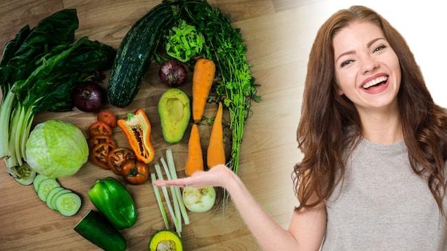 Bland annat huden och håret påverkas av en köttfri kost.