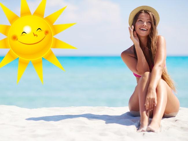 Var noggrann med att smörja in dig regelbundet när du är i solen!