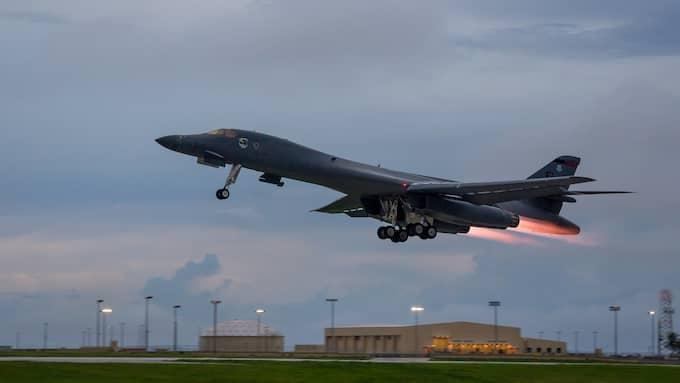 Nordkorea har kommit med ett nytt hot om att attackera den amerikanska militärbasen på Guam. Foto: US AIR FORCE/STAFF SGT. JOSHUA SMO / EPA TT NYHETSBYRÅN