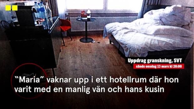 """""""Maria"""" vaknade med tecken på att hon blivit våldtagen"""