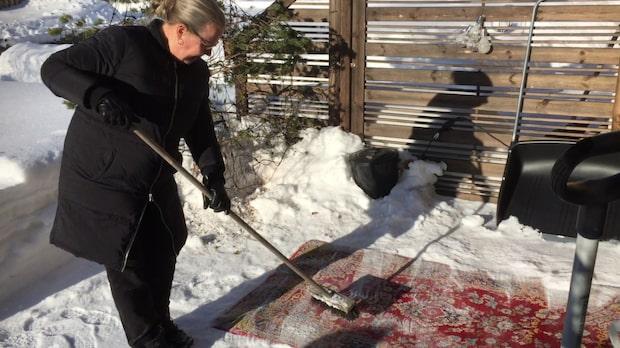 Rengör dina mattor i snön