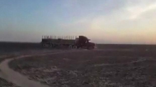 Här förstör lastbilschauffören världsarvet i Peru