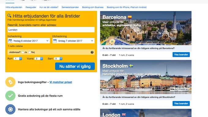 På Booking.com kan man boka hotell över hela världen. Men kan man liuta på prisrabatterna och betygen?