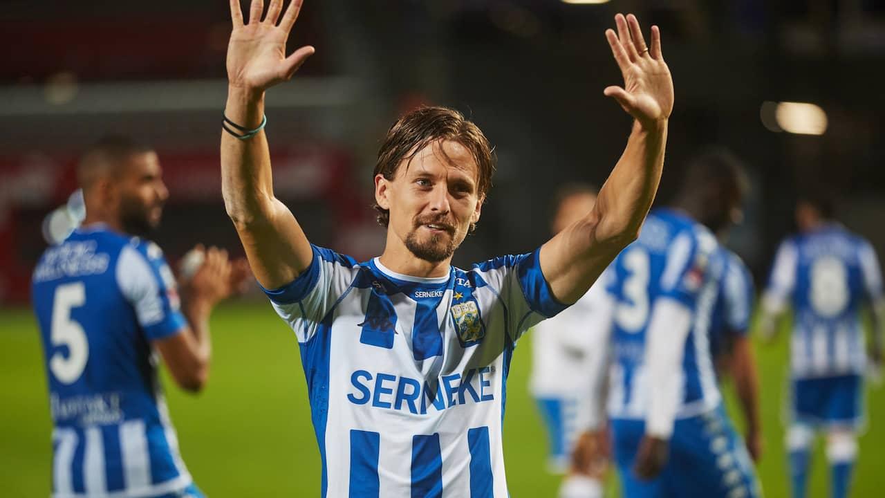 """Lasse Vibe om målet: """"Klart det är roligt"""""""