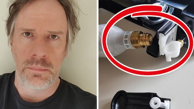 Anders skulle testa sin Sodastream – då exploderade den