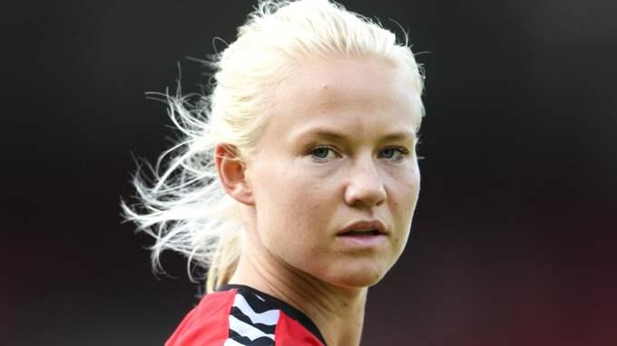 Den danska storstjärnan och förre Linköpingsspelaren Pernille Harder. Foto: CARL SANDIN / BILDBYRÅN