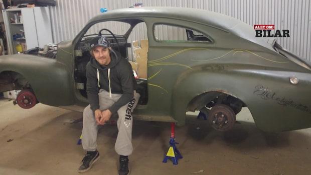 Kims Volvo PV 544 från 1961 har gjort succé på Facebook