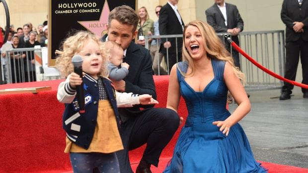 Ryan Reynolds och Blake Livelys döttrar hyllas efter sötchocken