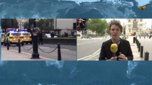 """Bil har kört in i brittiska parlamentet: """"Stora avspärrningar här"""""""