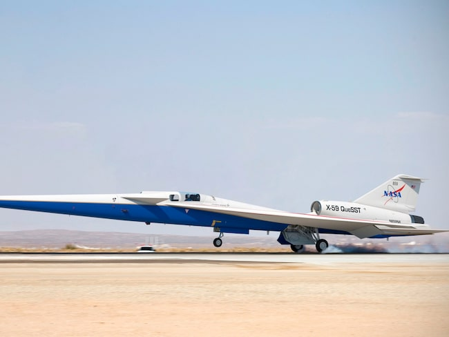 X-59 QueSST beräknas göra sin första testflygning redan 2021.