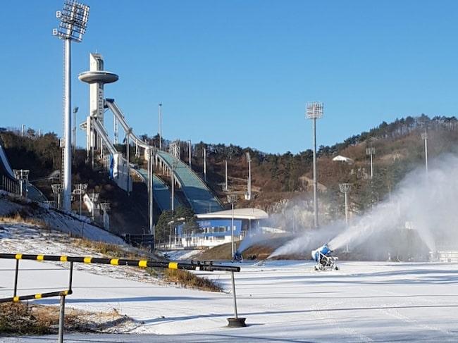 Platsen där de olympiska vinterspelen utspelar sig är staden Pyeongchang.
