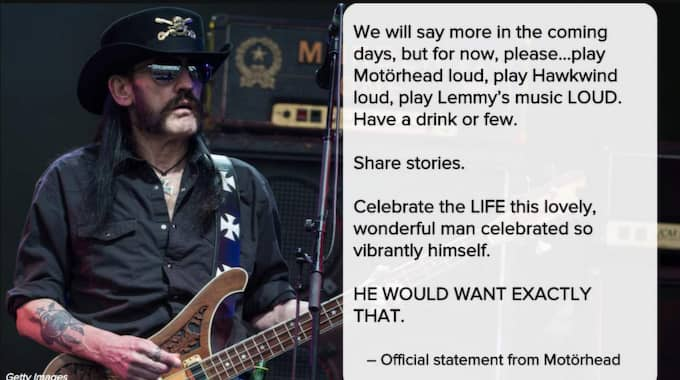 Bandet postade själva ett meddelande.