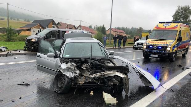 Hans Fahlén i allvarlig bilolycka – kraschade in i bil