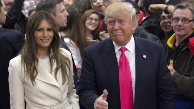 Melania Trump och Donald Trump. Foto: Jae C. Hong / AP