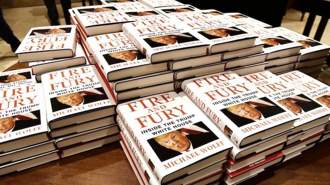 "Skandalboken ""Fire and Fury: Inside the Trump White house"". Foto: RAY TANG / ZUMAPRESS.COM/IBL ZUMA PRESS"