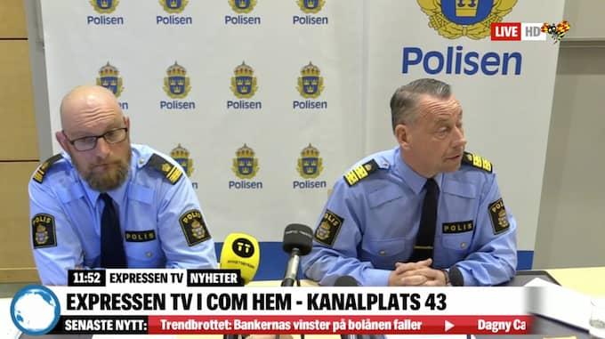 Polisen höll pressträff.