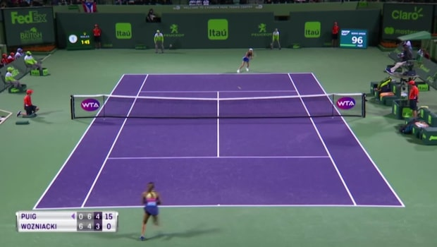 Wozniacki utslagen ur Miami open
