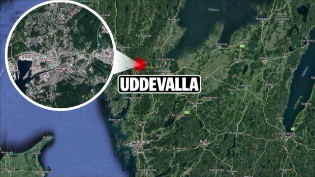 Skottlossning mot industrilokal i Uddevalla