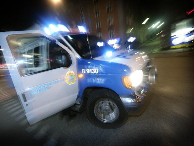 Ser du polisens stoppljus är det en snabb och säker parkering som gäller.
