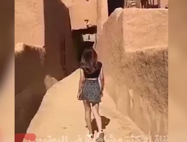 Saudiska kvinnan la ut video med kort kjol – nu utreds hon