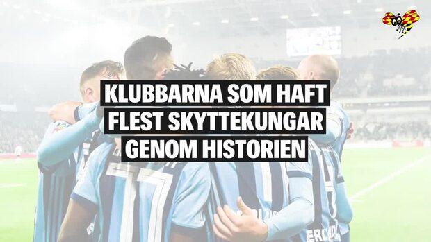 Klubbarna med flest skyttekungar i Allsvenskans historia
