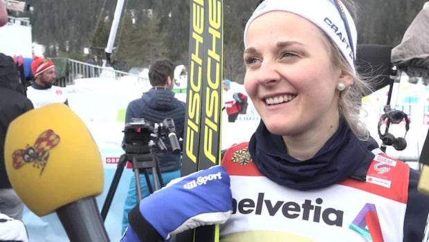 """Stina Nilsson efter guldet: """"Jag är jätteimponerad över Maja"""""""