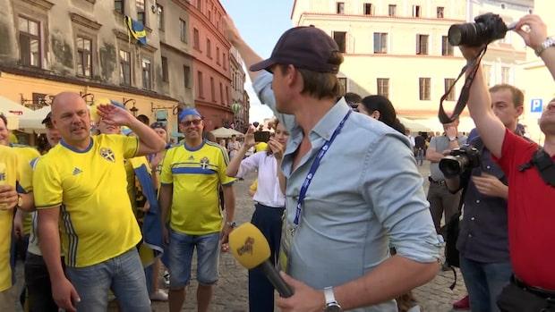 Ur arkivet: Wilbacher kör Kanna På med svenska fansen