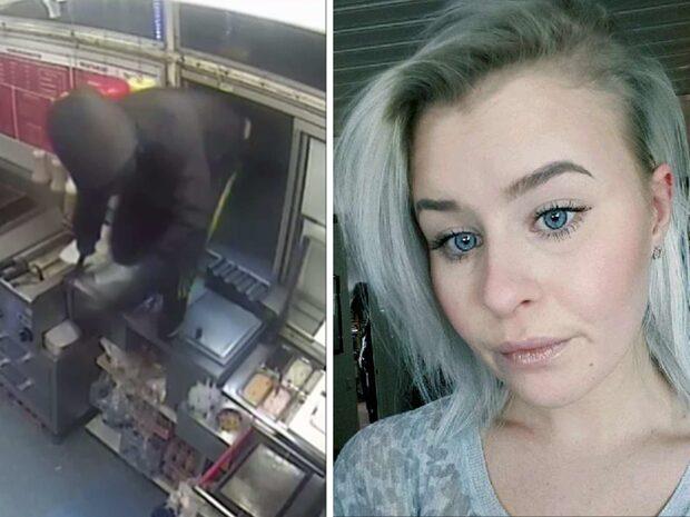 Här hoppar rånaren in – och jagar Tanya, 22