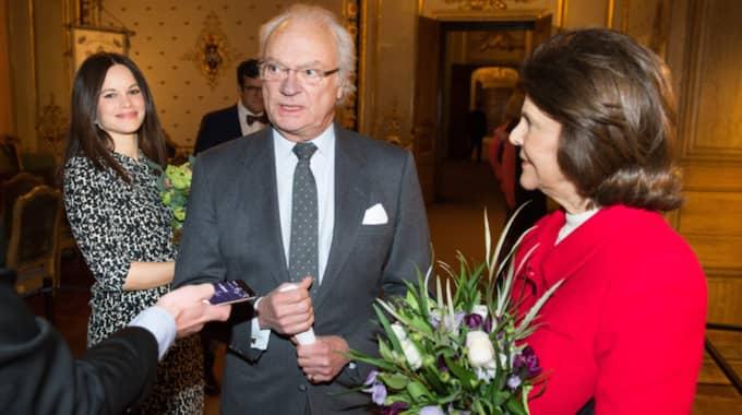 Prinsessan Sofia var under onsdagen i Rikssalen med kungen och Silvia på festivalen Unga musik på slottet. Foto: Pelle T Nilsson/AOP-IBL