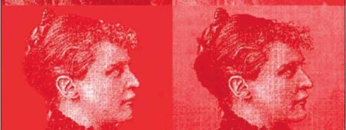 TYSTAD. Helene von Druskowitz tvingades lova sjukhusledningen att aldrig mer skriva en rad. Illustration: ANNA ADVING