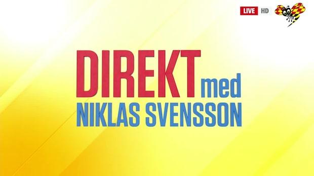 Direkt med Niklas Svensson – se hela programmet 16/10 2019