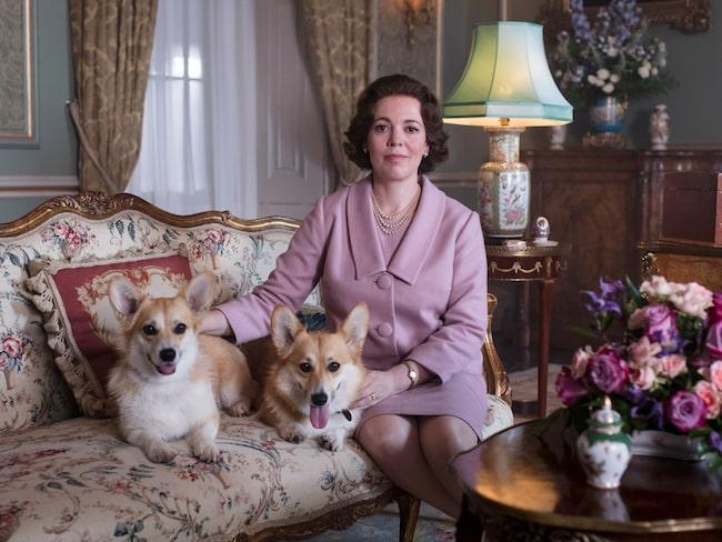 "Olivia Colman som Drottning Elizabeth II, säsong tre, ""The Crown""."