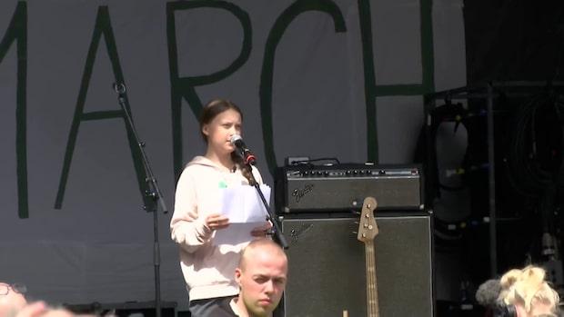 Greta Thunberg lockade tiotusentals till Köpenhamn