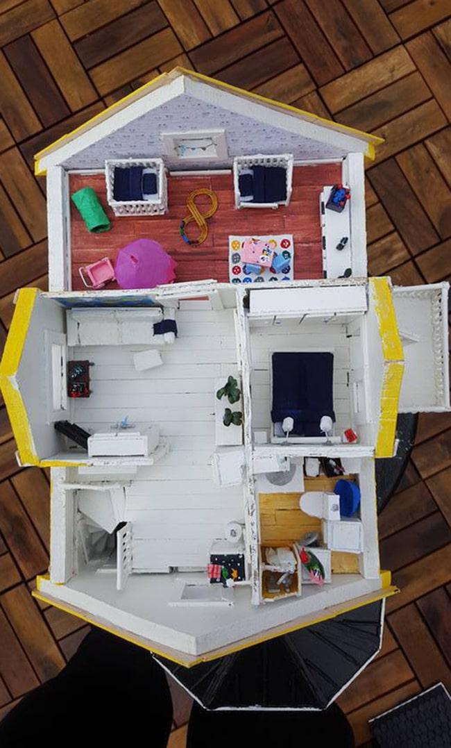 Sara har byggt ett minihus u2013 av 800 glasspinnar Leva& bo