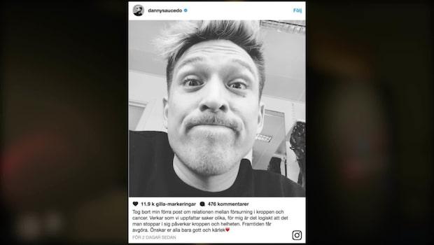 Hårda kritiken mot Danny Saucedos inlägg