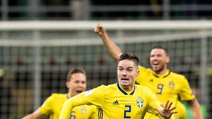Här är han glad efter 0-0 – vilket innebar avancemang Foto: PETTER ARVIDSON / BILDBYRÅN