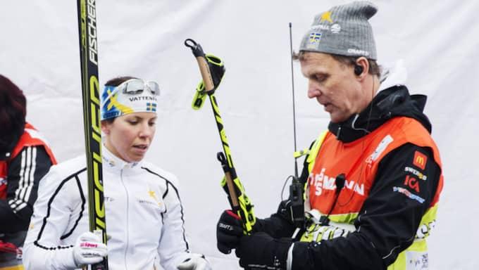 Charlotte Kalla och Torbjörn Nordvall Foto: Nils Petter Nilsson