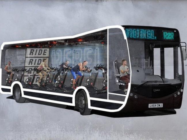 Brittiska gymkedjans spinning-buss ska trafikera London.