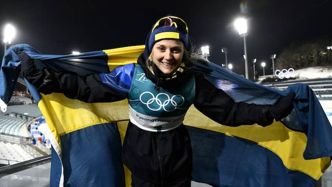Stina Nilsson tog OS-guld i sprinten. Foto: / SVEN LINDWALL