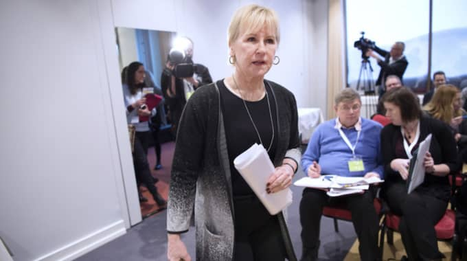 """""""Det kan behövas att man har information också till dem som kommer som nyanlända till Sverige"""", säger Margot Wallström. Foto: Sven Lindwall"""